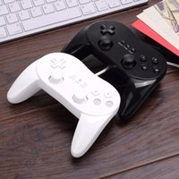 Wholesale Classic Wired Game Controller Gaming Remote Pro Gamepad Shock Joypad Joystick For Nintendo Wii Second generation Black White