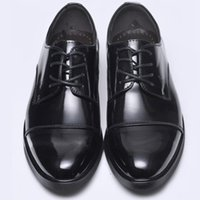 Wholesale New Brand Style Leisure Men Business Dress Patent Genuine Leather Shoes Fashion Lace Up Ankle Boots Low Top Men Wedding Shoes