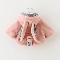 rabbit coat - Cut colors rabbit printed full sleeve girls Outwear kids for girls Tench coats Poncho autumn fall winter new