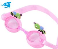 Wholesale Swim Essentials Children s goggles Cartoon animals glasses Cute little bee children swimming glasses Lovely children goggles