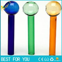 amber colored glass - NEW OB CM colored Oil Burner Thick glass pipe colorful glass tube glass puff bowl blue green amber all clear