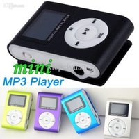 Wholesale DHL Mini Clip MP3 Music Player With LED LCD Screen Support Micro TF SD Memory Card USB Cables Earphones With Crystal Retail Boxes MP31