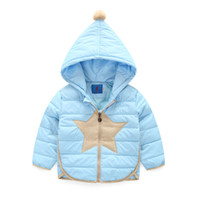 Wholesale Children Winter Clothing Candy Color Hooded Down Coat White Duck Down Girl Boy Warm Jacket Size CM
