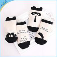 non slip socks - 50pairs Small quantity white and black T non slip girls boys baby soft feet socks