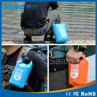Wholesale 2L L L High Quality Outdoor Waterproof Bags Ultralight Drifting Rafting Canoe Swimming Camping Hiking Dry Bag Pouch New