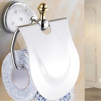 Wholesale European Style Solid Brass Diamond Chrome Plated Toilet Roll Holder WC Paper Holder Bathroom Accessories