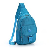 Wholesale Water Resistant Outdoor Chest Pack Nylon Hiking Daypacks Casual Sling Bag Shoulder bag Unbalance Pack for Men and Women