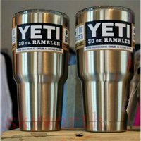 Wholesale Yeti oz Cups YETI Rambler Tumbler Travel Vehicle Beer Mug Double Wall Bilayer Vacuum Insulated Stainless Steel ml