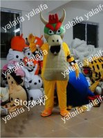 Wholesale Super Cheap Mascot Costumes - Cheap Bran-New Custom Made Super Mario BOWSER KOOPA Mascot Costumes Halloween Fancy Dress Outfit Suit Adult Size 0508