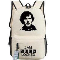 badminton tv - I am Sherlock backpack Good detective school bag TV play star daypack Quality schoolbag Outdoor rucksack Sport day pack