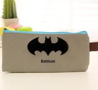 Wholesale Superhero pencil bag superman batman Captain Americ Transformers Canvas Cartoon Pencil case bags Back to school party favor gift makeup bag