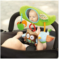 baby mirror infant - baby toy Fashion infant child baby mirror plush doll educational toys owl lathe hang Baby stroller accessories kids toy baby