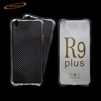 Wholesale Cheap Clear Cell Phone Cases - Cheap Cell Phone Cases for OPPO R9 R9 Plus Airbag Anti-Shock TPU Soft Clear Case Mobile Phone Covers WZ0117-001