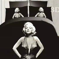 Cheap Marilyn Monroe 3D Bedding Set Duvet Cover Bed Set Bed Linen Comforter Cover Duvet Cover Bed Sheets Pillowcase Queen Size