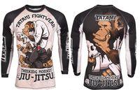 Wholesale mma fight tops Long sleeves Rashguard Shapers F036