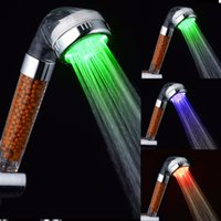 Wholesale 2016 New LED Self generating Change Colorful Alternating Luminous Shower Head hot sales