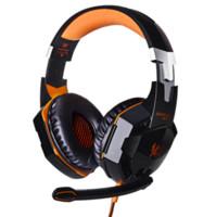 Casque d'écoute de jeu professionnel KOTION CHAQUE G2000 Casque d'écoute d'oreille avec le stéréo de microphone Bonne lumière de basse LED pour le jeu d'ordinateur