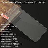 Wholesale For Xiaomi Redmi note mi Max mi5 mi5S MI4 C I MINote Protective Film Tempered Glass Screen Protector Protective Film