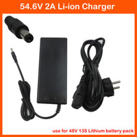 Cheap 54.6V 2A Lithium ion Battery charger DC port 48V 2A Power adapter for 48V 13S Lithium bicycle electric bike battery