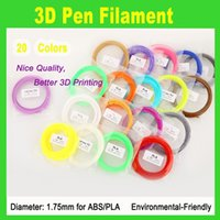 Wholesale Hot sale PLA Filament mm different colors meters each color all D Pen Filament D Printer SGS Approval Material