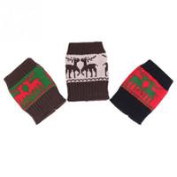 Wholesale Women Beautiful Cute Deer Pattern Knit Leg Warmers Cuffs Short Liner Boot Socks