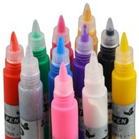 Wholesale 1set Colors Professional Beautiful D Nail Art Paint Drawing Pen Acrylic Nail Art Polish Carved Pen Kit Set DIY nail tools