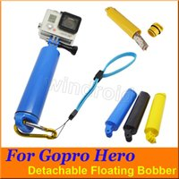 Wholesale Floaty Bobber with Strap Floating Diving Buoyancy Camera Handheld Grip Handle Mount Stick Screw for GoPro Hero