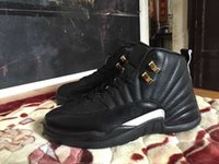 Wholesale top quality new The Master s Black Gold XII Retro Men Basketball Shoes For Sale cheap Sneakers size