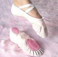 Wholesale 2016 HOT EUR SIZE Soft Women s Ballet Shoes for Kids Ballet Shoes for jazz lyrical gymnastics Color