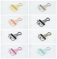 Wholesale 3 sizes of gold silver skeleton binder clips color document hollow clip color options Office School Supplies skeleton binder clips