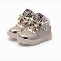 Wholesale Ninas kids sneakers LED lights tenis infantil children shoes autumn girls leisure sports casual shoes
