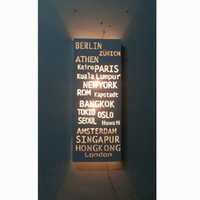 banner switches - CE ROHS modern fashion Look Nordic style of white wall lamp PARIS Destination Sign Banner Hardware Bus Roll subway transit light