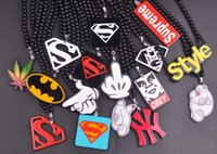 best hips - 2016 Kids Hip pop Necklace Cartoon Letters Pendant Necklace Kids Best Birthday Christmas Gifts NEW Design Superman Jewelry