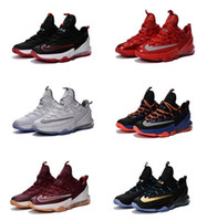Wholesale New Color White Low Basketball Shoes Lebron XIII Sports Outdoors Mens Man LB s James Basketball boots US13