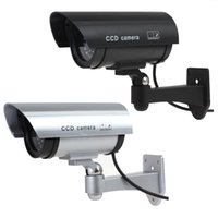 Wholesale Hot Realistic Looking Simulated Dummy IR Surveillance CCD Security Faking Fake Camera Waterproof Black Silver CCT_700
