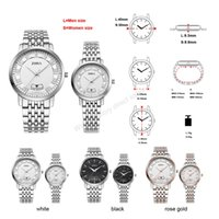 automatic watch women s - High quality stainless steel watches waterproof watches fashion lovers to the table automatic watch Love watch S Women size L Men size