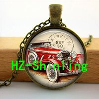 best men s glasses - hOT Vintage Car Necklace Glass s Car Jewelry Man glass photo jewely Fashion Bronze Pendant Necklace send best friend or him U