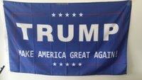 Wholesale 200pcs cm Donald Trump x5 Foot Flag Make America Great Again Donald for President USA