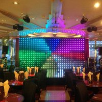 Wholesale Outdoor flexible led video curtain backdrops rgb stage lighting event party night club dj led video curtain P18 cm