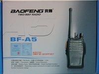 Wholesale 5W mAh channels MHz two way radio BAOFENG BF A5 Walkie talkie FM Radio Scrambler vox