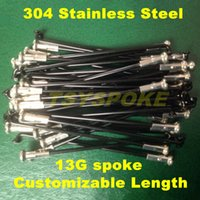 Wholesale Customizable Length G Electric bicycle spokes stainless steel ED black bicycle spoke with nipples TSCBS13