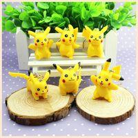 Wholesale Hot Sale Set pikachu PVC Keychain CM Action Figure KeyChain Ring Keyring Fashion Accessories New