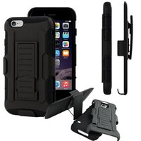 Wholesale Hybrid Hard Case for iPhone S S Plus Belt Clip Holster with Kickstand Swivel Holder Rugged Cover for Samsung Galaxy S6 S7 Edge