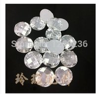 Wholesale 800pcs mm Round sew on Acrylic Crystals silver Colour holes flatback loose Beads hand sewing for dress