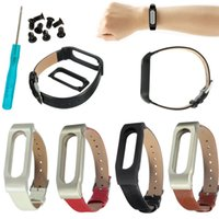 Wholesale 2016 Hot Smartband Tools Leather Bracelet Strap Replacement for XIAOMI Mi Band Wrist Wristband Strap Wearable Devices