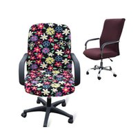 Wholesale Large size office Computer chair cover side zipper design arm chair cover recouvre chaise stretch rotating lift chair cover