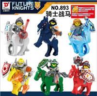 aaron plastics - 6PCS set Nexo Knights of the future Building Blocks Castle Warrior Clay Beast Master Aaron Macy Flame Thrower Smasher Minifigure Toys