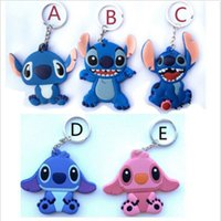 animation cartoon characters - Newest Cartoon Animation Lilo Stitch Key Chains Novelty Keyrings for Kids Gifts