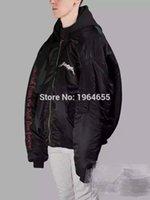 Cheap 2017 top new rare new hiphop design vetements darkness men unisex baggy oversized black purple Jackets Brand zipper coat S-XL
