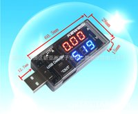 Wholesale USB current voltage tester voltage ammeter USB mobile power charger data cable detector